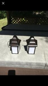 Pair of New Outdoor Lamps
