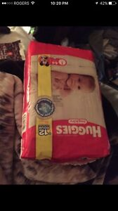 SIZE ONE HUGGIES DIAPERS 44 - 2