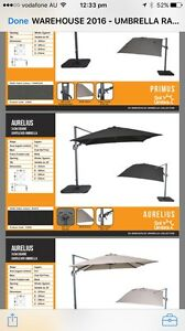 ** HEAVY DUTY Cantilever umbrellas!!* Aspley Brisbane North East Preview