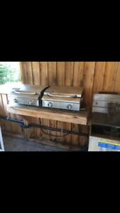 2 grills and COMMERCIAL DEEP FRYER!!