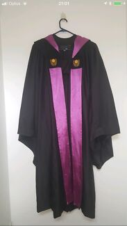 CURTIN GRADUATION GOWN PINK BUSINESS SCHOOL