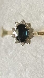 18ct sapphire and diamond set cluster ring Rouse Hill The Hills District Preview