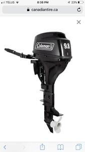 9.8 hp 4 stroke Coleman outboard