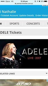Adele Ticket SYD Show - B Reserve 11th March 2017 Ashfield Ashfield Area Preview