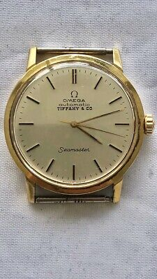 VINTAGE OMEGA SEAMASTER TIFFANY & CO. SOLID 18K GOLD AUTOMATIC SWISS 70'S CLASSY