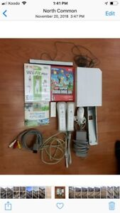 Wii with 2 Wiimotes and Super Mario Bros