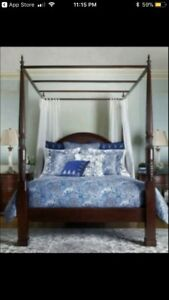 BOMBAY Oak King Size Bed,2-Night Table,2-Dressers,Amour,2-lamps