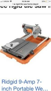 RIGID TILE SAW USED FOR ONE JOB