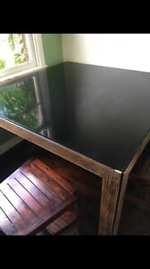 Glass dining table  with 8 chairs Ashburton Boroondara Area Preview