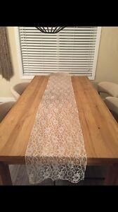 25 Ivory/Lace Table Runners
