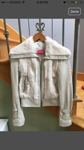 Maclage leather and fur -size XS