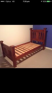 Solid timber single bed frame in good condition