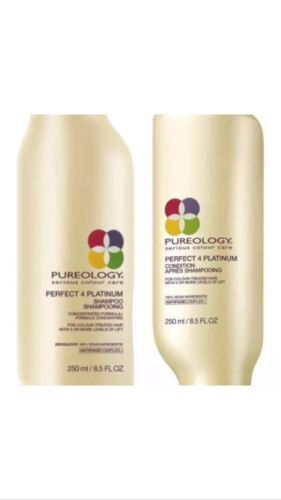 Pureology Perfect 4 Platinum Shampoo and Conditioner 8.5 oz FREE SHIPPING