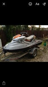 2008 seadoo rxp 255 with double trailer