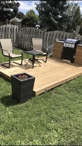 BRAND NEW 8x8 FLOATING DECK WITH 4x4 EXTENSION FOR BBQ