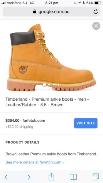 9632b97a6b01 Brown leather Premium waterproof ankle boots from Timberland