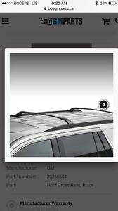 ISO roof cross rails for a 2014 Acadia