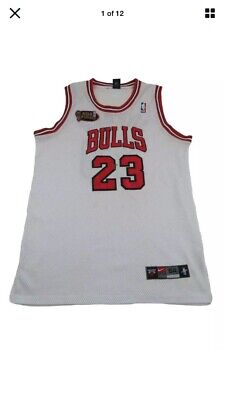 Nike Men's Michael Jordan Chicago Bulls Jersey 48 XL NBA Finals Swingman NBA Vtg