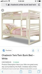 Bunk bed or two single twin beds.