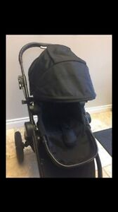 Black baby jogger city select (used once)