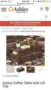 Ashley gately coffee table with lifttop