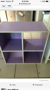 Purple cube bookshelf Karama Darwin City Preview