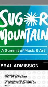 1x Sugar Mountain Ticket Carnegie Glen Eira Area Preview