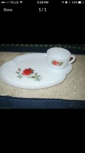 Vintage Chic Red Rose dishes