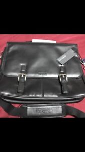 New with Tags $360 Kenneth Cole Leather Laptop Bag Case