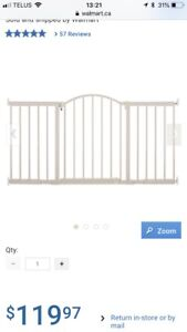 Extra wide and tall baby gate