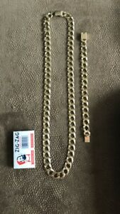10k gold chain and bracelet set