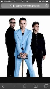2 Seats Depeche Mode Friday Oct 27th Rogers Place