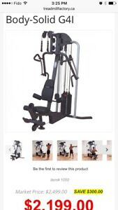Bodysolid G4I weight exercise machine