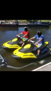 2 seadoo Sparks 3up 2017, IBR and with dual trailer