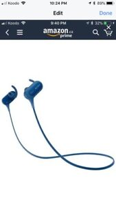 New Sony MDR-XB80BS blue extra bass ear phones