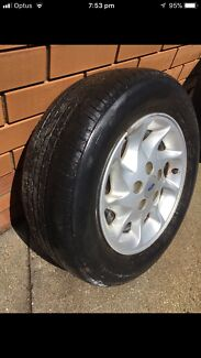 """15 """" inch ford mags wheels only 1 In roadworthy condition"""