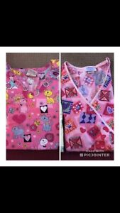 Size M and L scrub tops