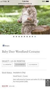 Baby deer costume from pottery barn kids