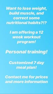 Weight loss/ muscle gain- personal trainer