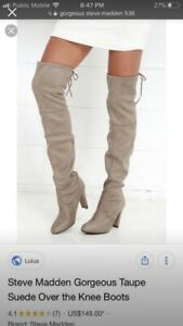 Steve Madden over the knee boots new