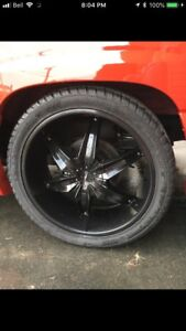"24"" helo rims and lexani 305 35 24 tires"