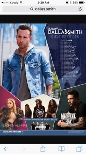 2 Dallas smith tickets for October 25th at centre in the square