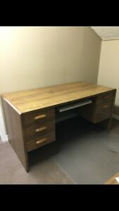"DESK WITH MATCHING CREDENZA/HUTCH ""WHAT A STEAL!"""
