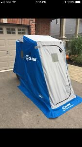 Clam kenai 1 person pull over ice fishing shelter