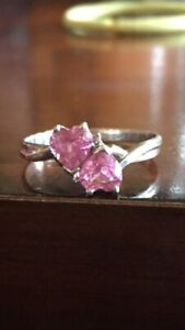 RING (pink sapphires) diamond chips $40