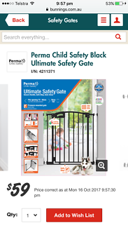 Child safety gate - near new , used three months