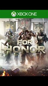 For honor Xbox one!