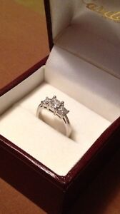 Engagement Ring! 14kt White Gold set with matching wedding bands