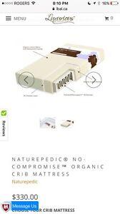 White crib & organic mattress