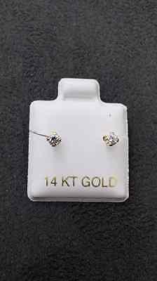 14 KT Yellow Gold Stud Earrings Screw Back (pierced) 3MM 14k Yellow Gold Pierced Earrings